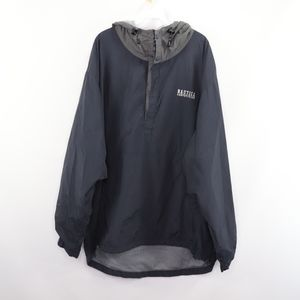 90s Nautica Mens 2XL Spell Out Anorak Jacket Blue